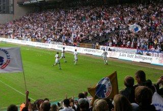 Jesper Grønkjær scores for FC Copenhagen