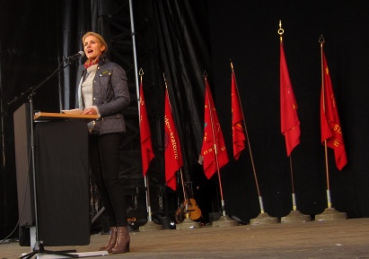 Danish PM Helle Thorning-Schmidt on Mayday 2015