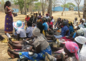 IYWD staff emphasises on participatory rights during the meetings