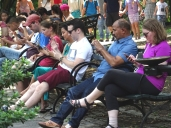 Smartphones in Central Park, New York