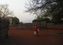 Woman in rural village in Swaziland