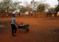 Children in village in rural Swaziland