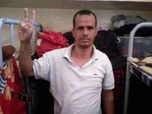 Hasana El Wali in his prison cell in Dakhla