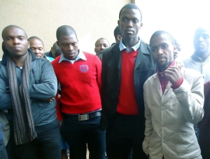 Njabulo, first from the right (brown jacket) 300px
